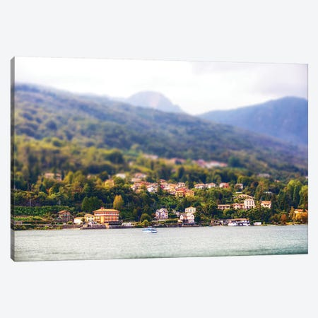 Bellagio Italy Tilt Shift Miniature Canvas Print #SMZ24} by Susan Schmitz Art Print