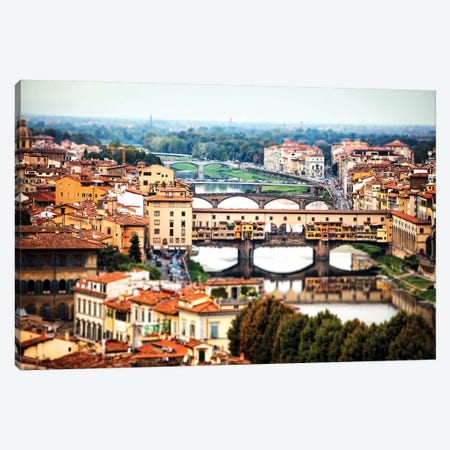 Bridges Of Florence Italy Canvas Print #SMZ30} by Susan Schmitz Canvas Art Print