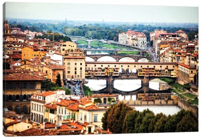 Bridges Of Florence Italy Canvas Art Print
