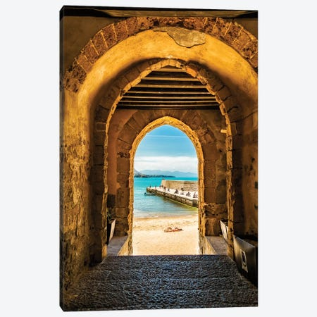 Cafalu Sicily - Archway To Beach Canvas Print #SMZ31} by Susan Schmitz Art Print