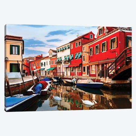 Colorful Burano Sicily Italy Canvas Print #SMZ48} by Susan Schmitz Canvas Wall Art