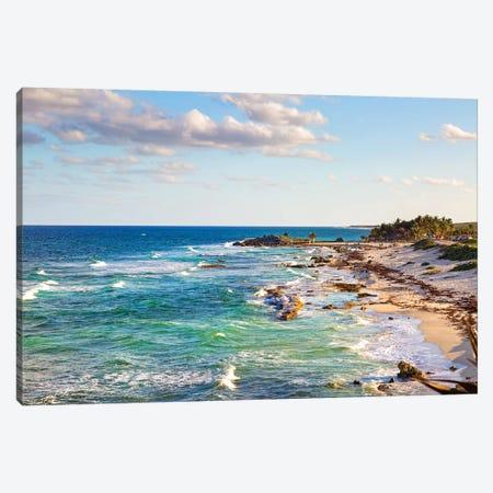 Cozumel Mexico Carribean Sea Shoreline Canvas Print #SMZ52} by Susan Schmitz Art Print