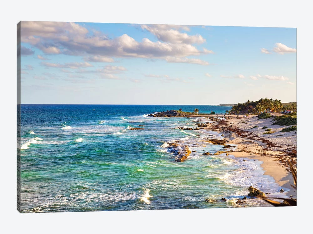 Cozumel Mexico Carribean Sea Shoreline by Susan Schmitz 1-piece Canvas Art Print