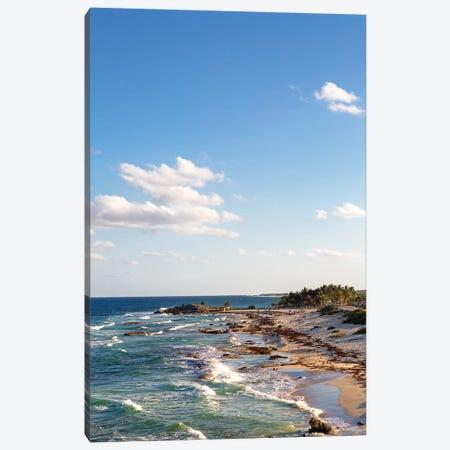 Cozumel Mexico Sea Shoreline Vertical Canvas Print #SMZ53} by Susan Schmitz Canvas Art Print