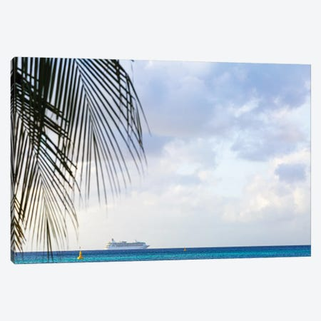 Cruise Ship At Sea With Copy Space Canvas Print #SMZ56} by Susan Schmitz Canvas Art