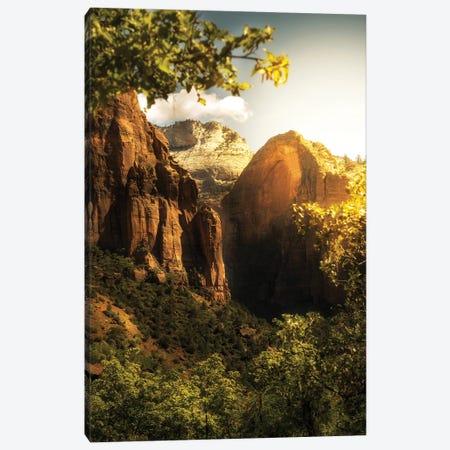 Golden Sunrise In Zion Canyon National Park Canvas Print #SMZ75} by Susan Schmitz Canvas Art
