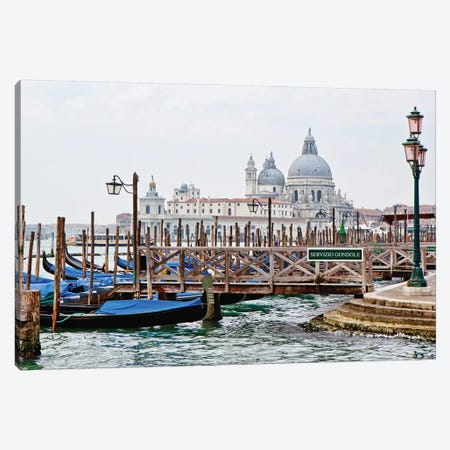 Gondola Station In Venice Canvas Print #SMZ76} by Susan Schmitz Canvas Artwork
