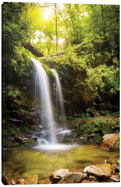 Grotto Falls In Smoky Mountain National Park Canvas Art Print