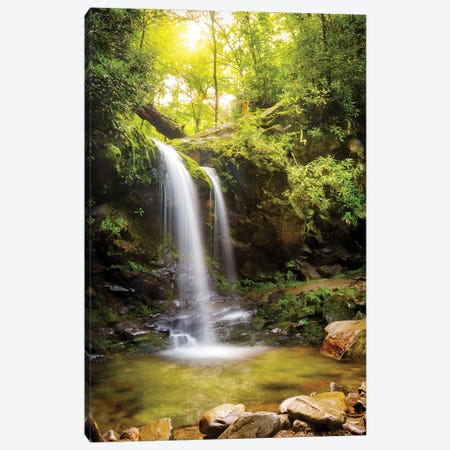 Grotto Falls In Smoky Mountain National Park Canvas Print #SMZ79} by Susan Schmitz Art Print