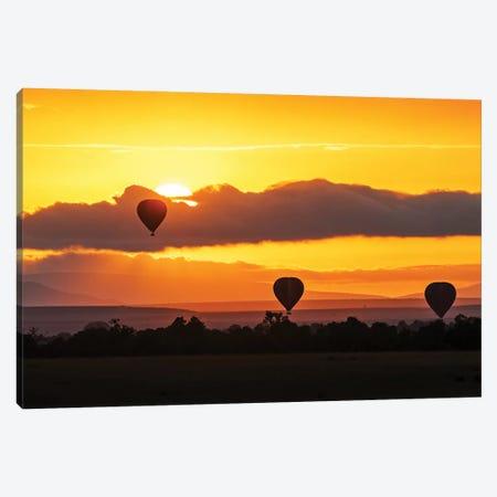 Hot Air Balloons In Surise Orange Africa Sky Canvas Print #SMZ84} by Susan Schmitz Art Print