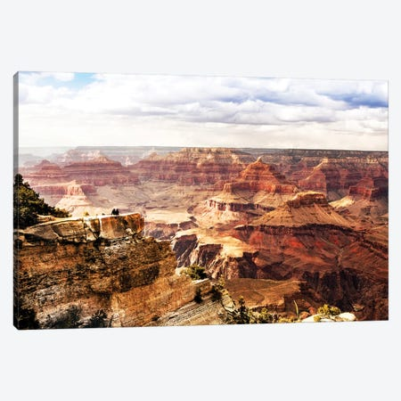 Looking Into Majestic Grand Canyon Canvas Print #SMZ94} by Susan Schmitz Canvas Wall Art