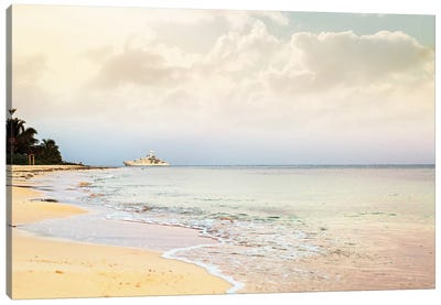 Luxury Yacht On Caribbean Sea Canvas Art Print