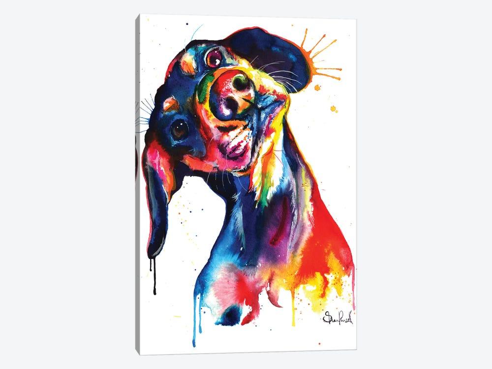 Dachshund by Weekday Best 1-piece Canvas Art