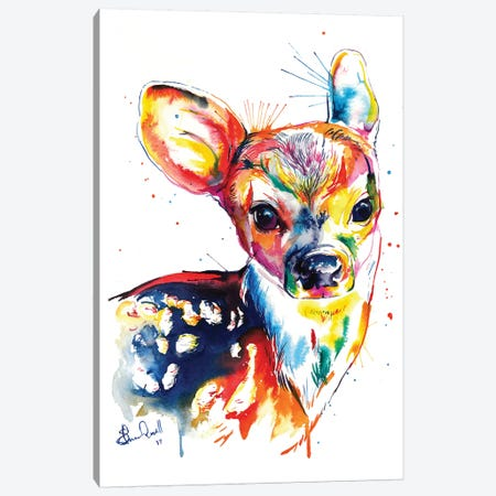 Deer Canvas Print #SNA12} by Weekday Best Canvas Wall Art