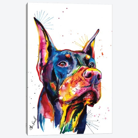 Doberman Canvas Print #SNA13} by Weekday Best Canvas Wall Art