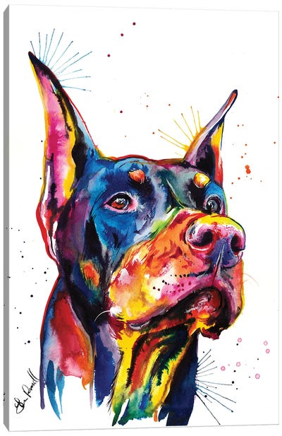 Doberman Canvas Art Print
