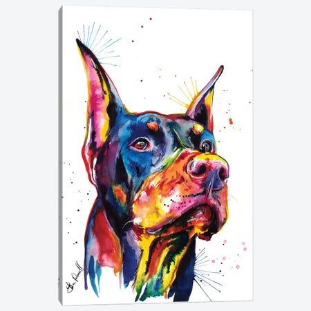 Doberman Canvas Print #SNA13} by Weekday Best Canvas Wall Art