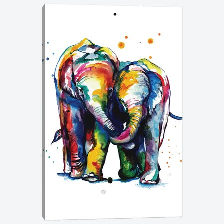 Elephants Canvas Print #SNA14} by Weekday Best Art Print