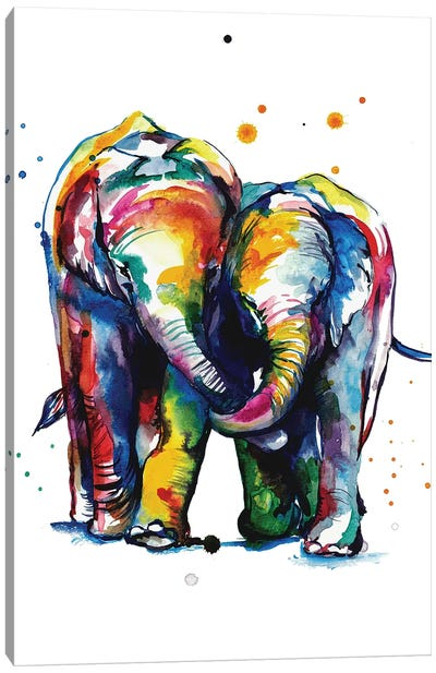 Elephants Canvas Art Print