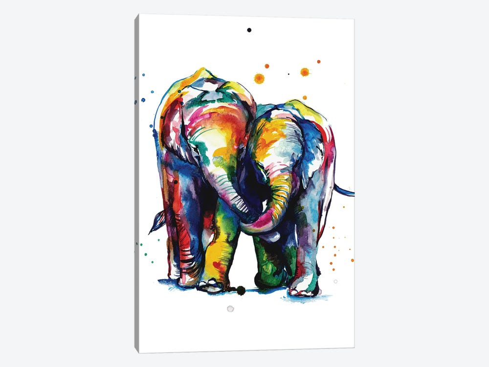 Elephants by Weekday Best 1-piece Canvas Print
