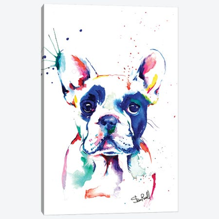 Frenchie I Canvas Print #SNA15} by Weekday Best Art Print