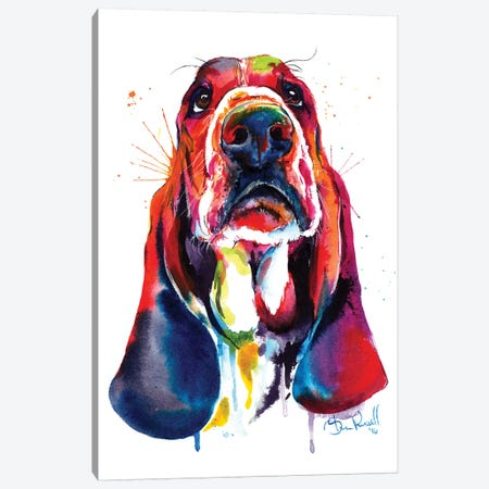 Basset Canvas Print #SNA1} by Weekday Best Canvas Art Print