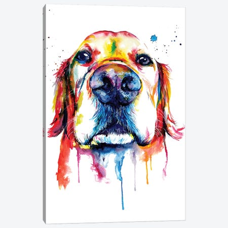Retriever Canvas Print #SNA20} by Weekday Best Canvas Art Print