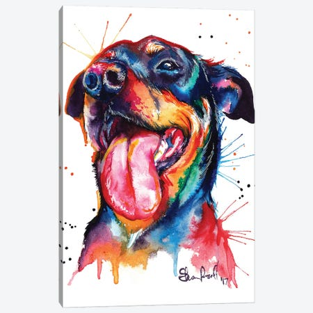 Rottie Canvas Print #SNA21} by Weekday Best Art Print