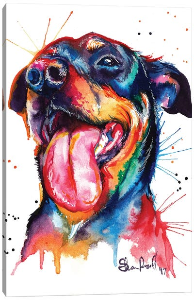 Rottie Canvas Art Print
