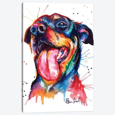 Rottie Canvas Print #SNA21} by Weekday Best Art Print