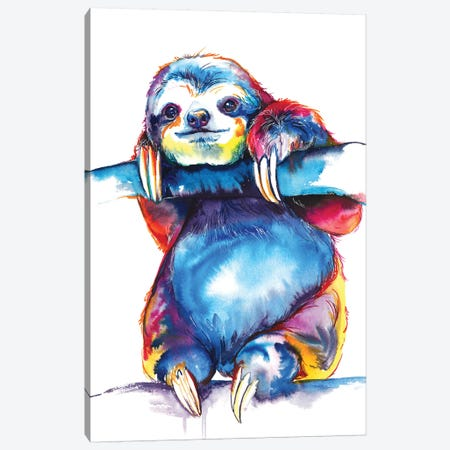 Sloth Canvas Print #SNA22} by Weekday Best Art Print