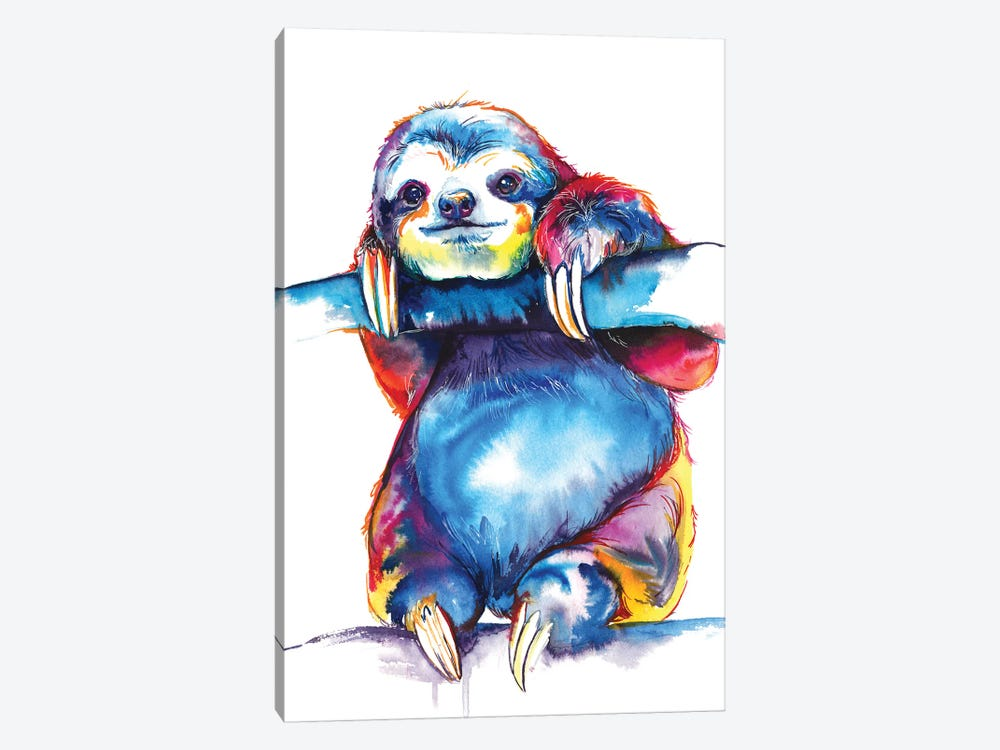 Sloth by Weekday Best 1-piece Canvas Artwork