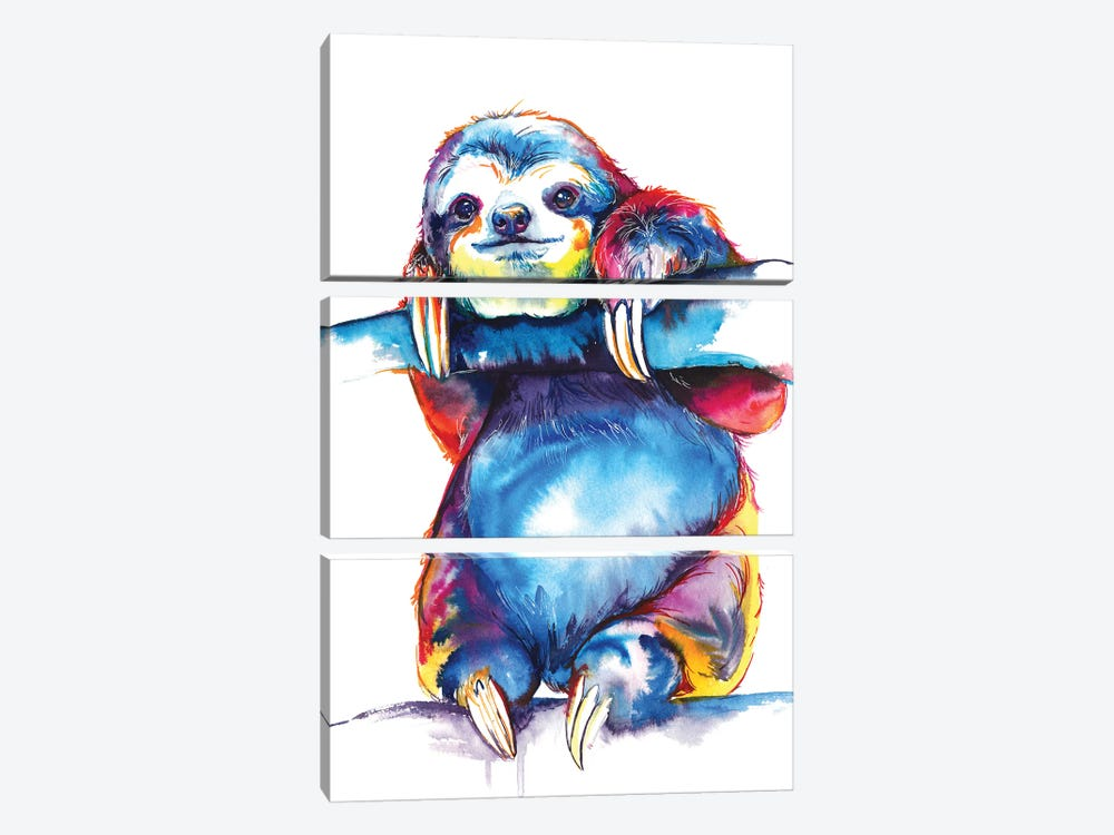 Sloth by Weekday Best 3-piece Canvas Artwork