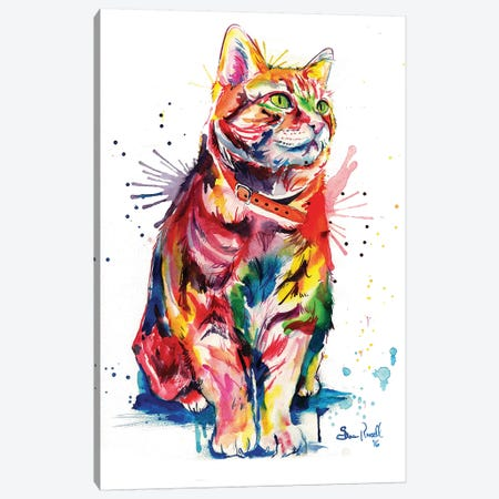 Tabby Canvas Print #SNA24} by Weekday Best Canvas Wall Art
