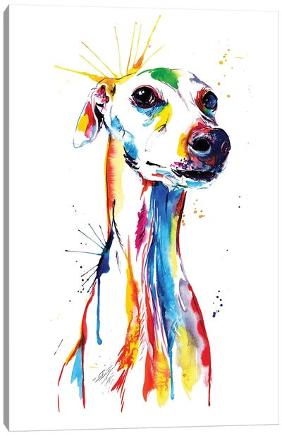 Whippet Good Canvas Art Print