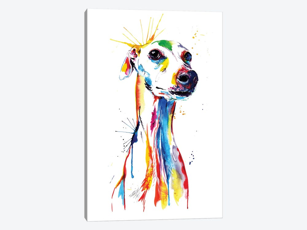 Whippet Good by Weekday Best 1-piece Canvas Print