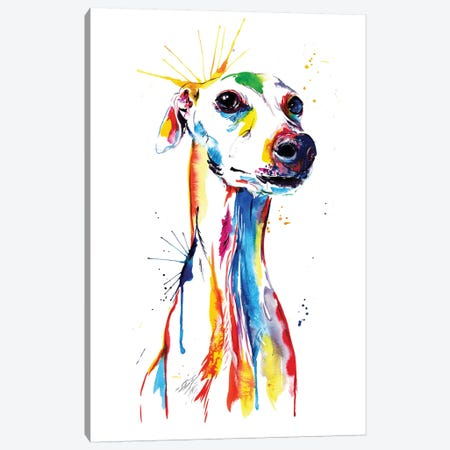Whippet Good Canvas Print #SNA25} by Weekday Best Canvas Artwork