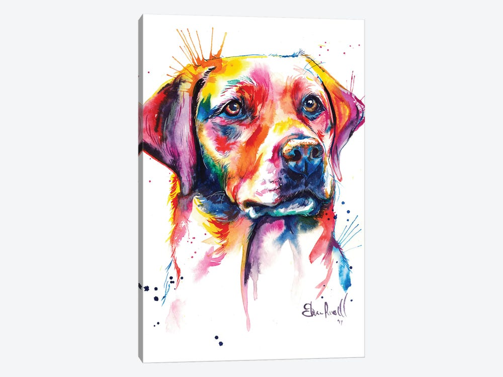 Yellow Lab I by Weekday Best 1-piece Canvas Artwork