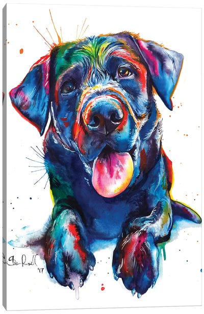 Black Lab II Canvas Art Print