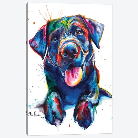 Black Lab II 3-Piece Canvas #SNA28} by Weekday Best Canvas Print
