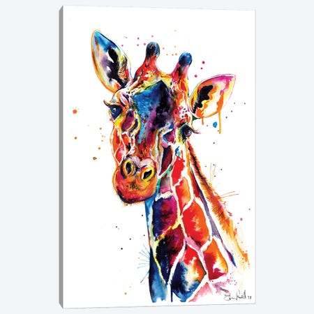 Giraffe Canvas Print #SNA29} by Weekday Best Art Print