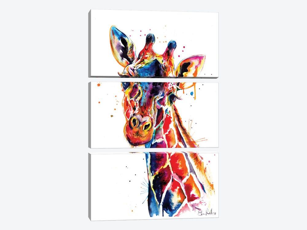 Giraffe by Weekday Best 3-piece Canvas Print