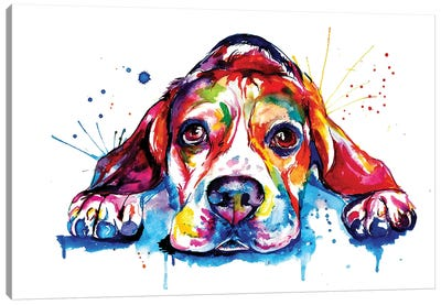 Beagle Canvas Art Print