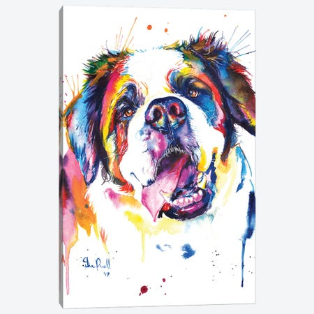 St. Bernard Canvas Print #SNA30} by Weekday Best Canvas Artwork