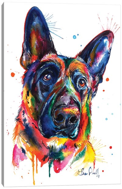 German Shepard Canvas Art Print