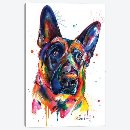German Shepard Canvas Print #SNA32} by Weekday Best Canvas Art