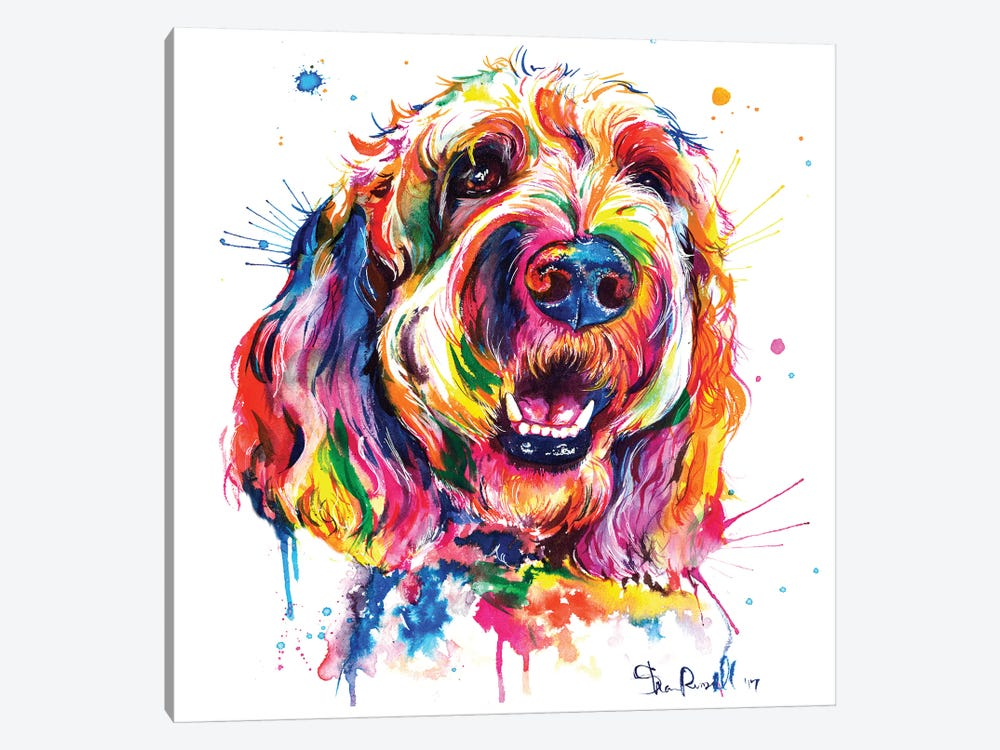 Goldendoodle by Weekday Best 1-piece Canvas Wall Art