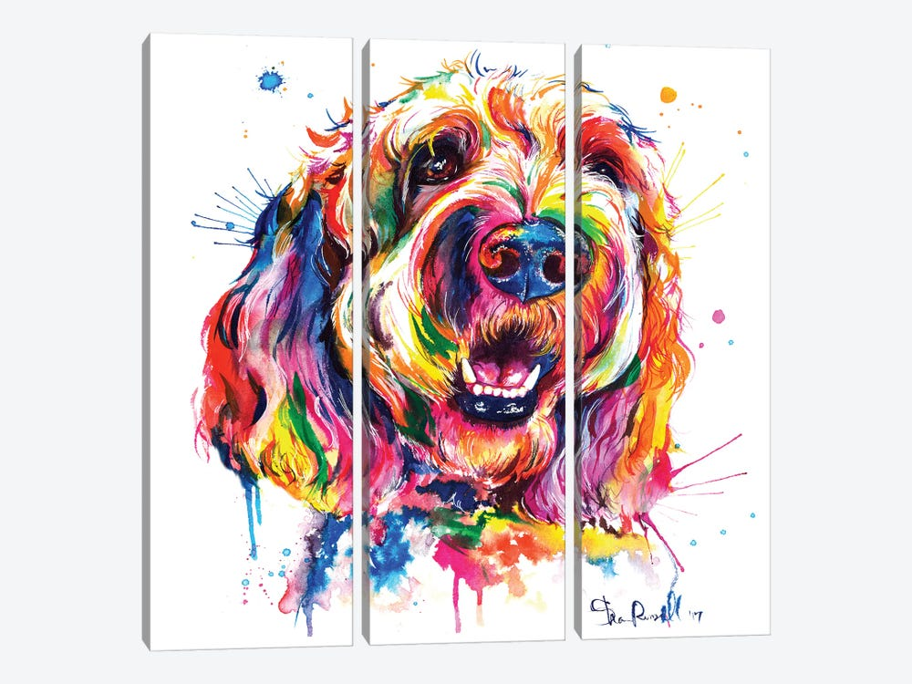 Goldendoodle by Weekday Best 3-piece Canvas Art