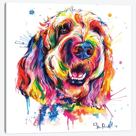Goldendoodle Canvas Print #SNA33} by Weekday Best Canvas Wall Art