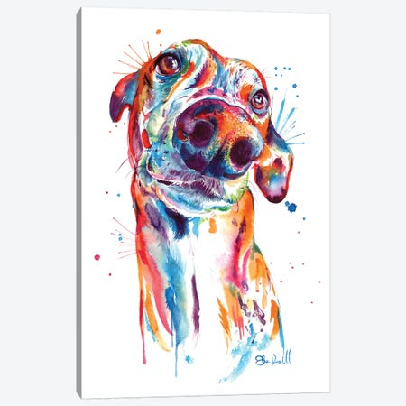 Greyhound Canvas Print #SNA34} by Weekday Best Art Print
